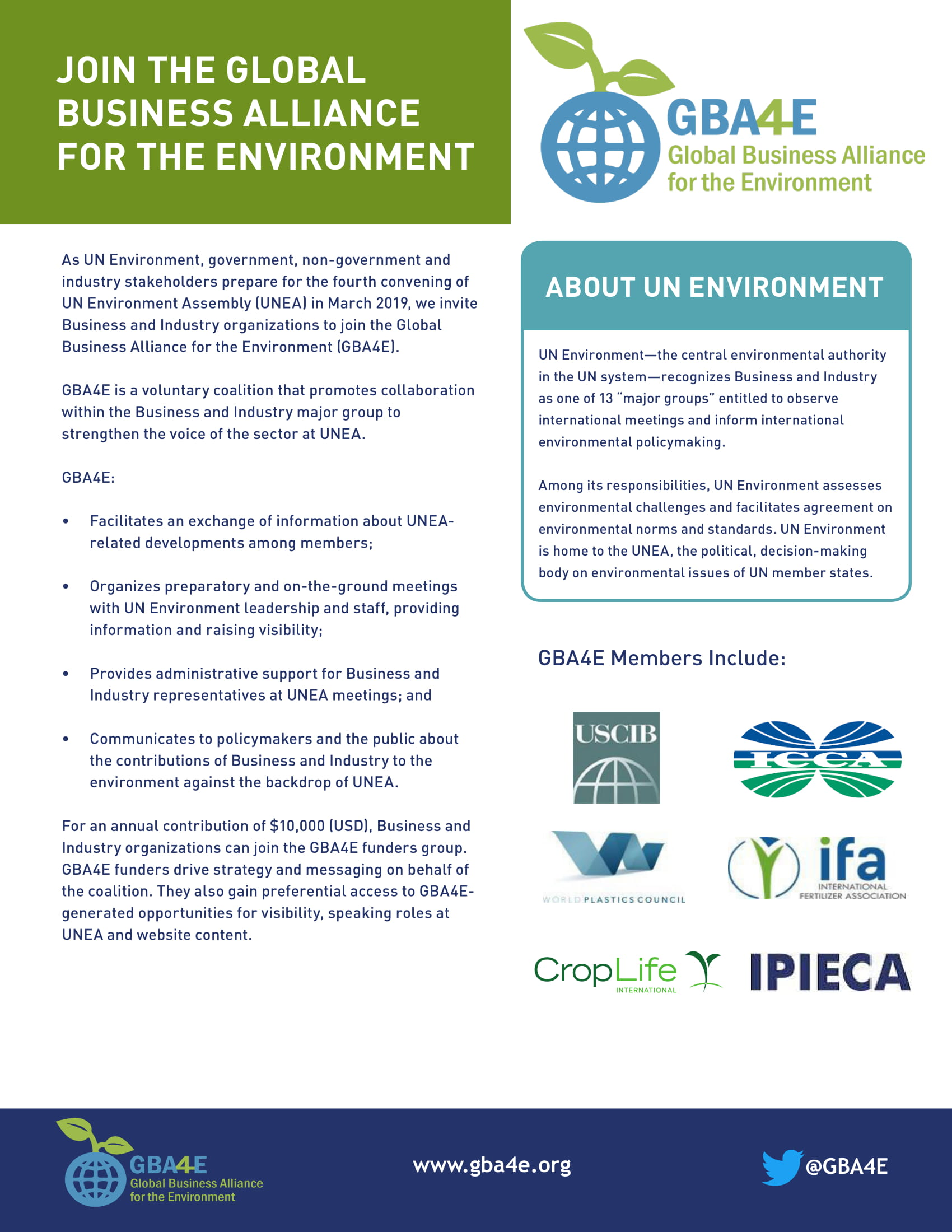 Join The Global Business Alliance For The Environment Gba4e